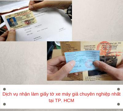 Dịch vụ nhận làm giấy tờ xe máy giả chuyên nghiệp nhất tại TP. HCM