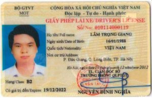 Dịch vụ làm lại bằng lái xe ô tô bị mất tại lamgiayto.net