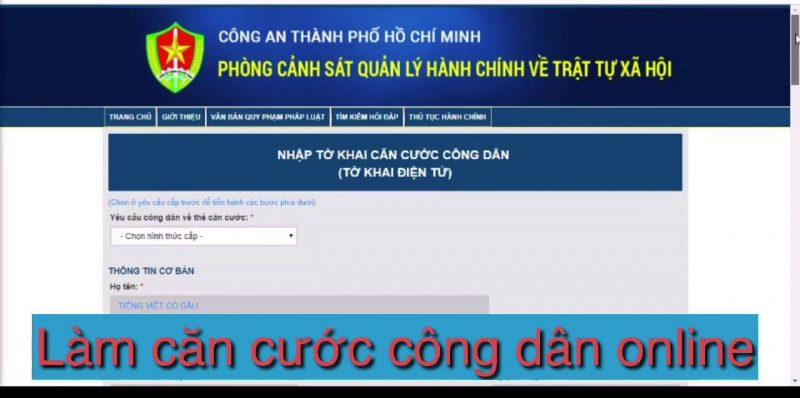 Những điều thú vị về dịch vụ làm thẻ căn cước online tại TP HCM