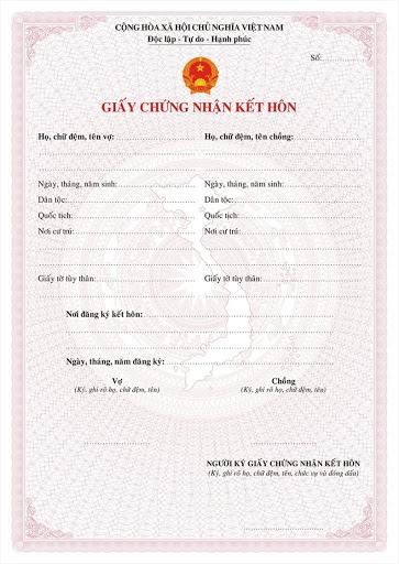Dịch vụ tạo giấy đăng ký kết hôn giả