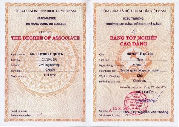 Địa chỉ làm bằng cao đẳng giả đảm bảo chất lượng và uy tín